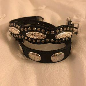 Vintage leather western bracelets